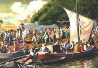 Ankunft deutscher Siedler in Rio Grande do Sul