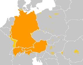 Karte Deutschland in Europa