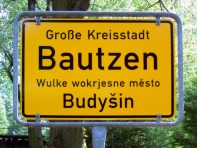Ortsschild Bautzen