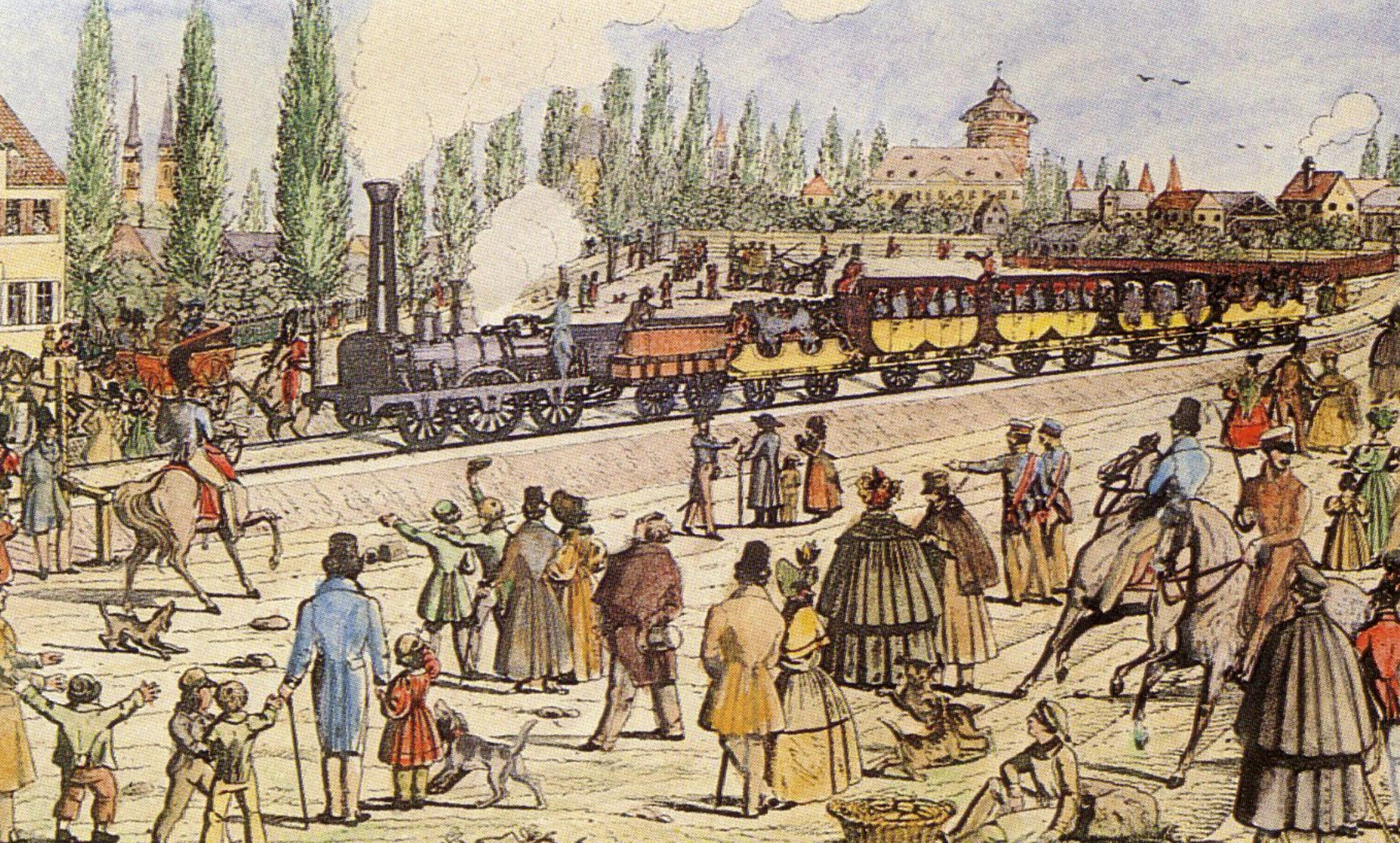 Die erste deutsche Eisenbahn