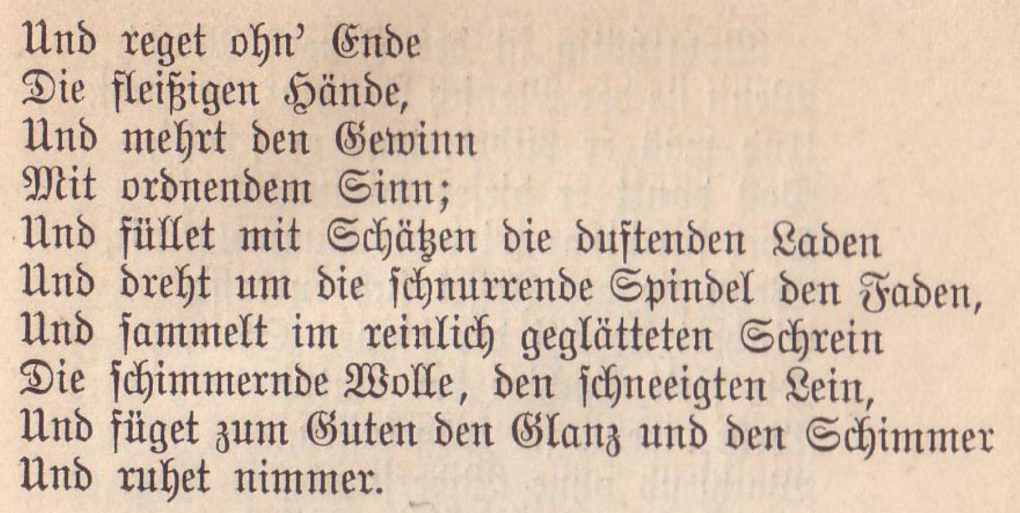 """Auszug aus """"Das Lied von der Glocke"""""""