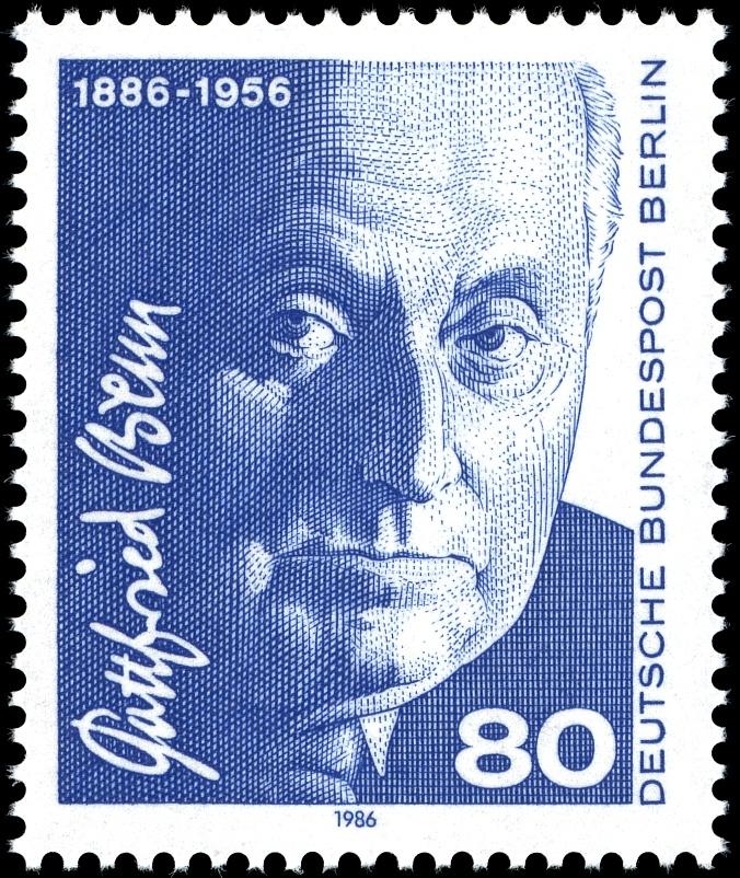 Briefmarke zum 100. Geburtstag von G. Benn