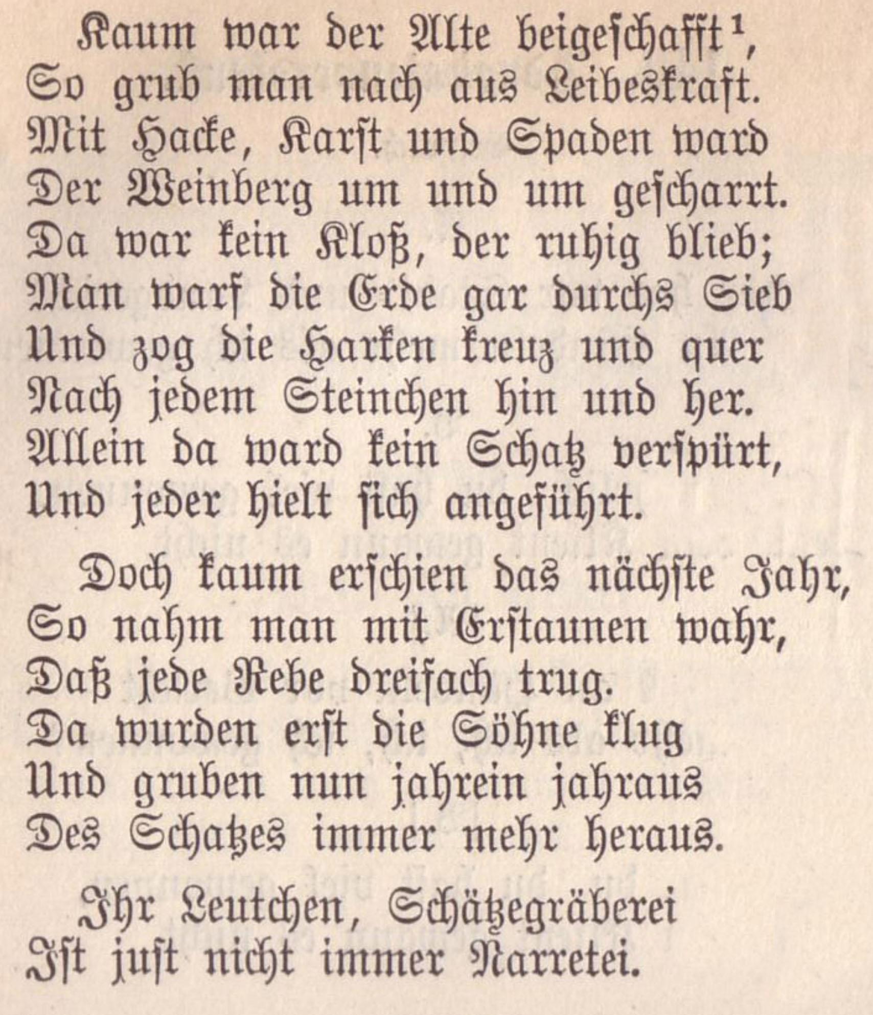 G.A. Bürger: Die Schatzgräber