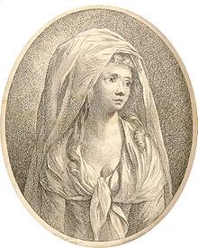 Sophie Albrecht,  Kupferstich nach Anton Graff