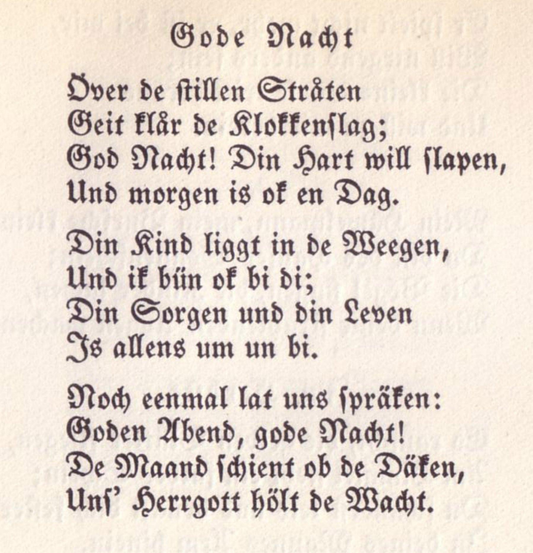 """Gode Nacht"""