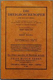 Brechts Dreigroschenoper (Titelblatt)