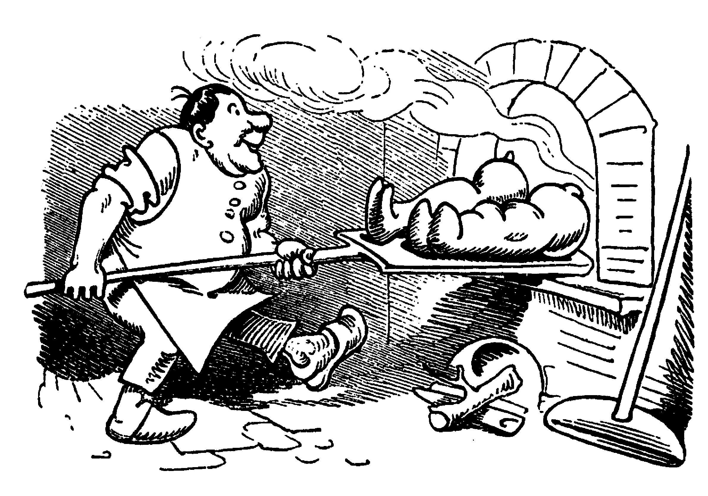Max und Moritz: Bäcker am Ofen (6. Streich)