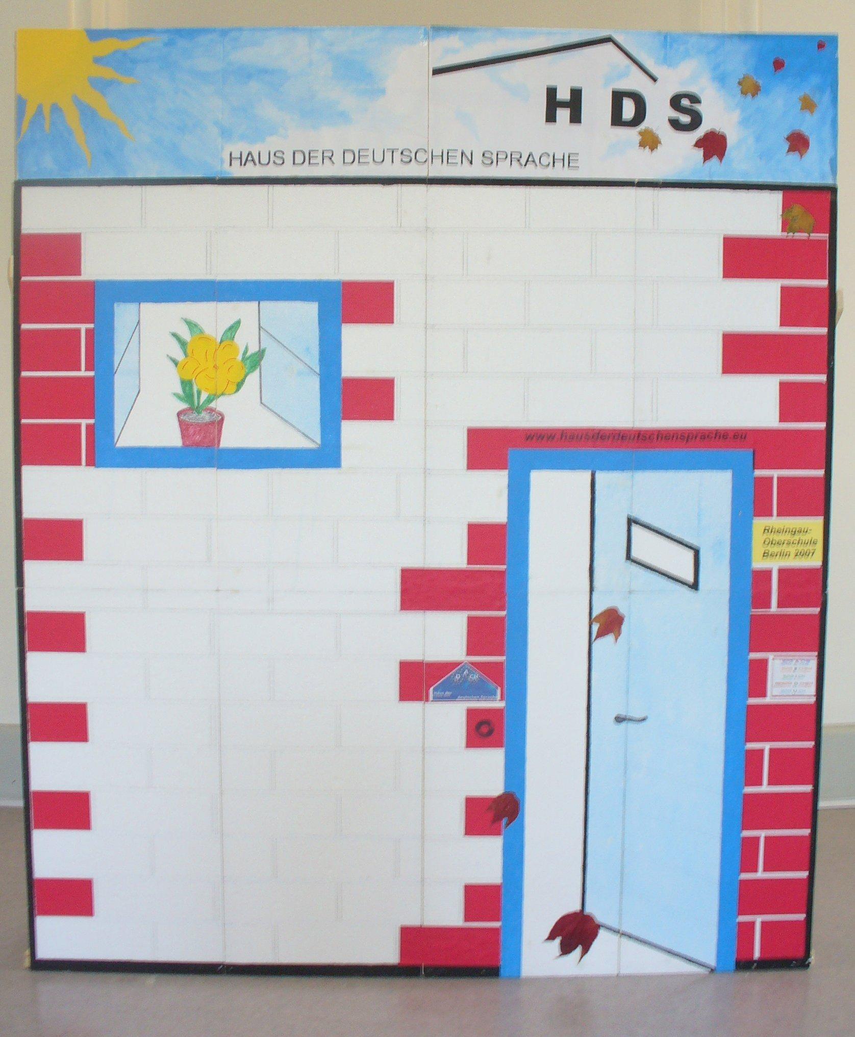Haus der deutschen Sprache gemalt
