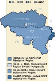 Karte Flandern Wallonie