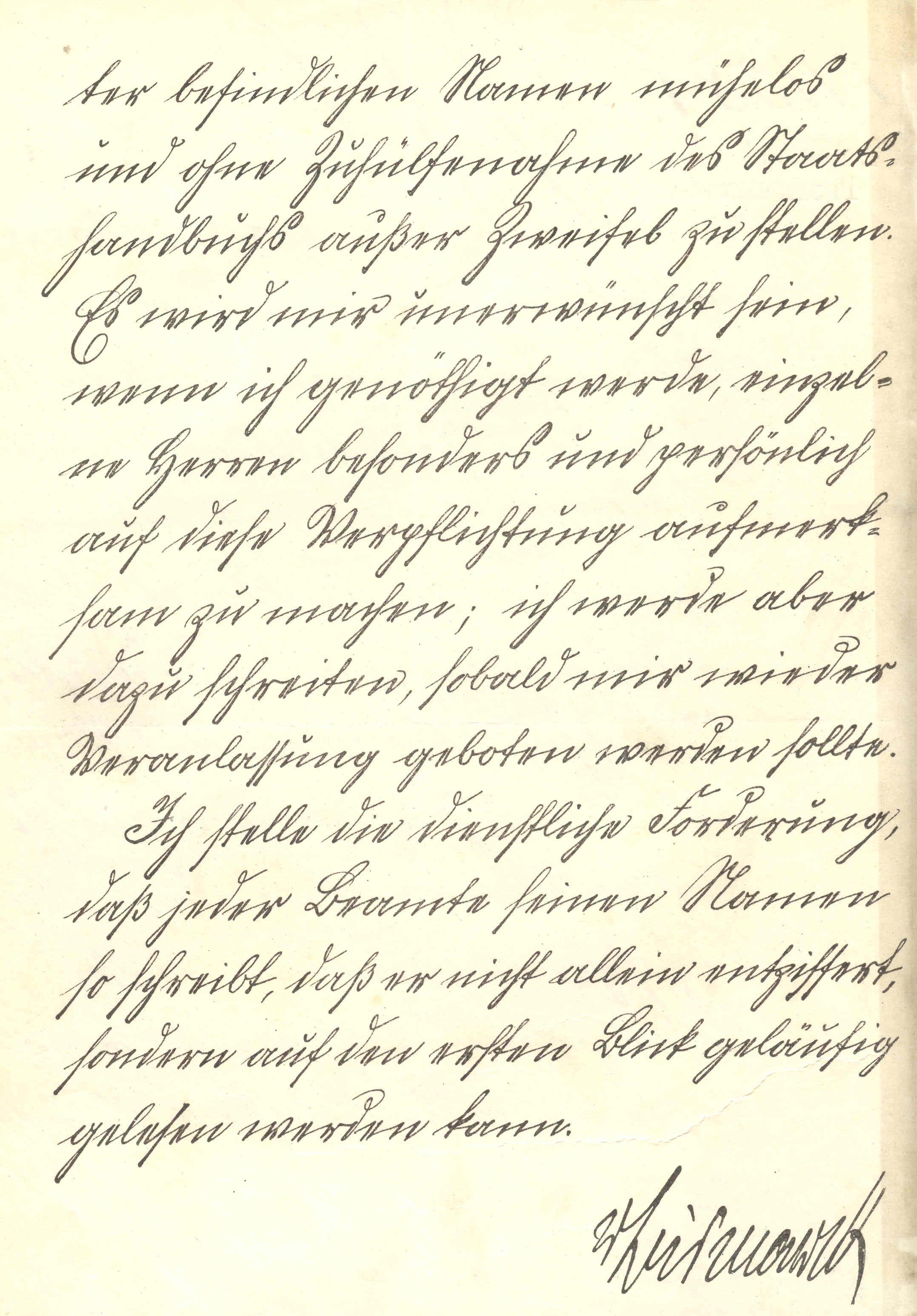 Bismarcks Schönschreiberlass
