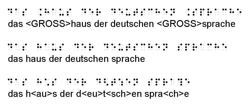 """""""das Haus der deutschen Sprache"""" in Braille"""