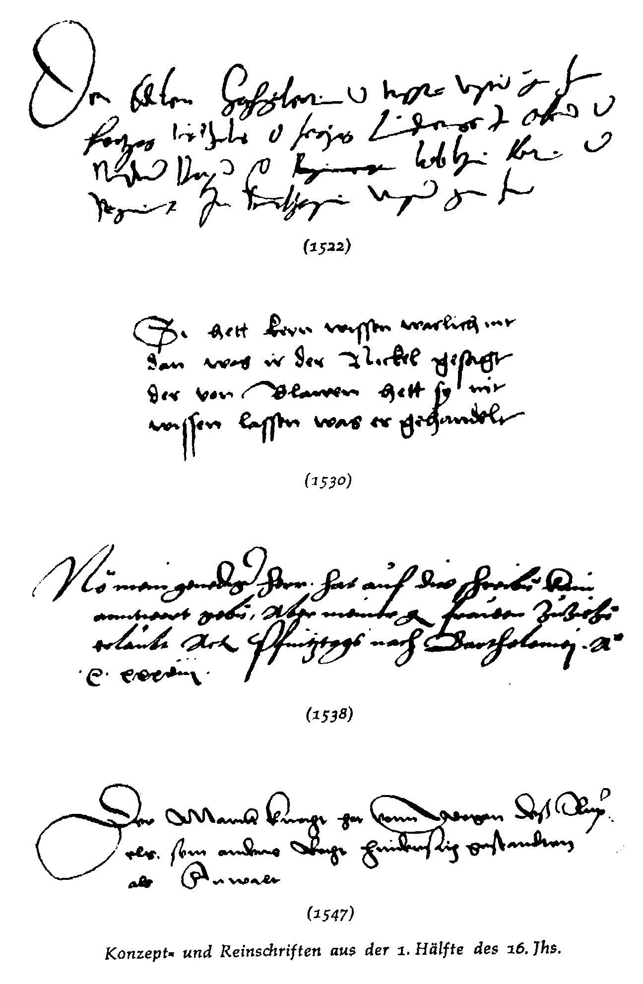 Konzept- und Reinschriften aus dem 16. Jahrhundert