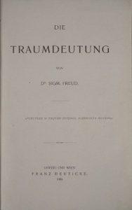 Sigmund Freud, Traumdeutung (Titelblatt, Bild gemeinfrei, Quelle: Wikipedia)