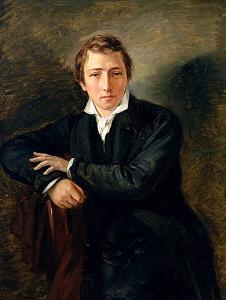 """Heinrich Heine"""" von Moritz Daniel Oppenheim – allposters.com. Lizenziert unter Gemeinfrei über Wikimedia Commons –"""