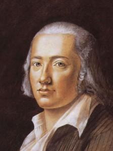 Friedrich Hölderlin, Pastell von Franz Karl Hiemer, 1792 (Bildquelle: Wikipedia, gemeinfrei)